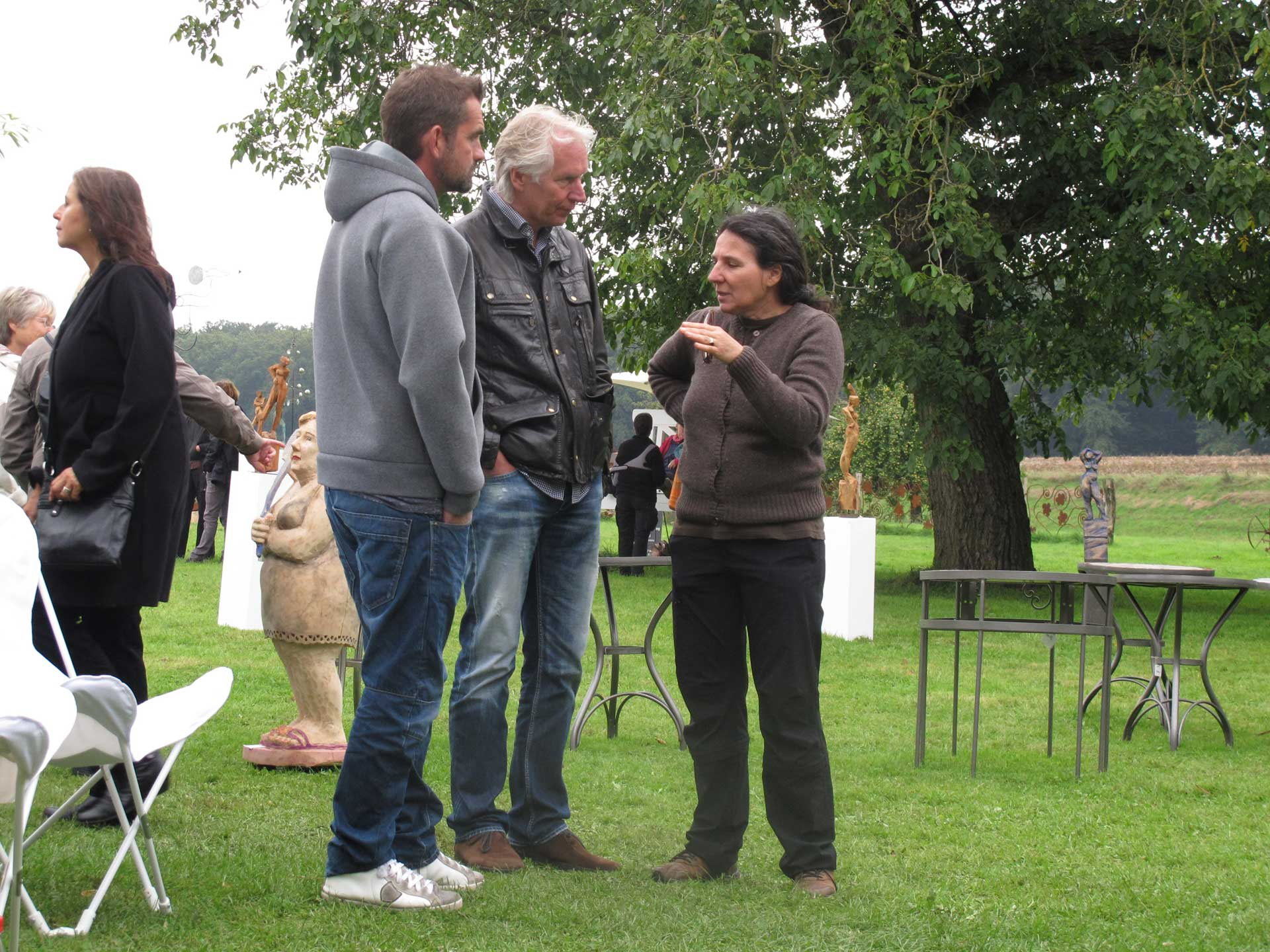 HofKunst in Häger - 2013 - Gespräch